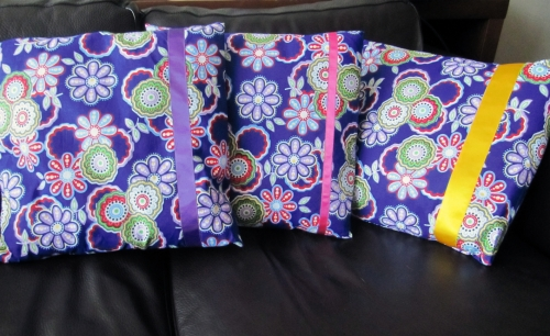couture, coussin, ruban